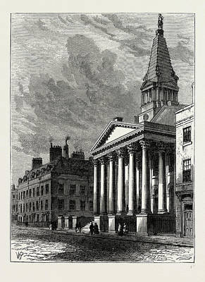 Bloomsbury Drawing - St. Georges Church, Bloomsbury, London, Uk by Litz Collection