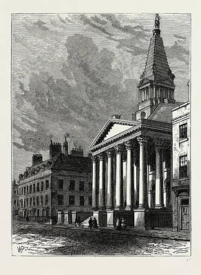 Bloomsbury Drawing - St. Georges Church by Litz Collection