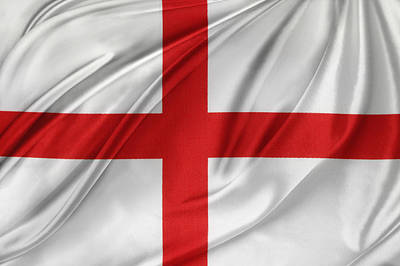 Waving Flag Photograph - St George's Cross by Les Cunliffe