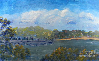 St Georges River Near Como Marina  Art Print