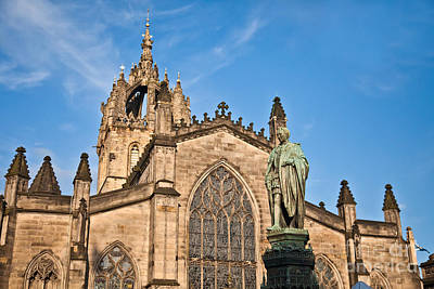 Cathedral Photograph - St Giles Cathedral  Edinburgh by Liz Leyden