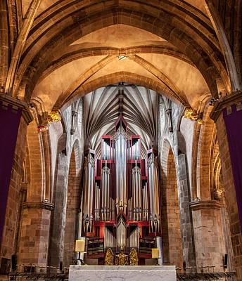 Photograph - St. Giles Pipe Organ by Brian Grzelewski