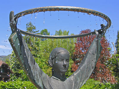 Staff Picks Judy Bernier Rights Managed Images - St Gilgen Mozart Fountain Royalty-Free Image by Ann Horn