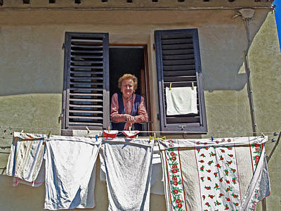 Photograph - St. Gimiano Woman  by Haleh Mahbod