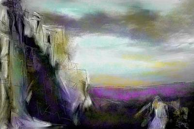 Digital Art - St Hillarion Vista by Jim Vance