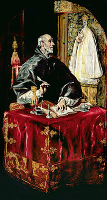 Inkwell Photograph - St. Ildefonsus, 1597-1603 Oil On Canvas by El Greco