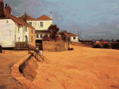 Bridge Painting - St Ives Beach Head by Nop Briex
