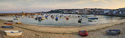 Photograph - St Ives Harbour Panorama by Shirley Mitchell