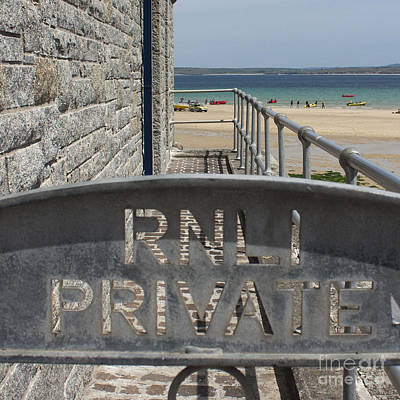 Photograph - St Ives Royal National Lifeboat Institution by Terri Waters