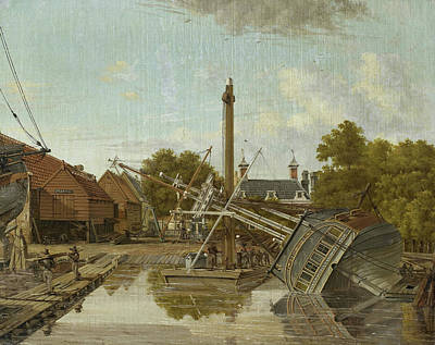 St Jago Shipyard On Bickers Island In Amsterdam Art Print by Litz Collection