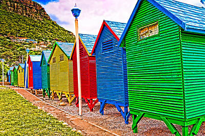 St James Beach Houses From Behind Art Print by Cliff C Morris Jr