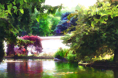 Digital Art - St James Park 2 by Helene U Taylor