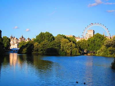 London Eye Photograph - St James Park Idyll by Andreas Thust