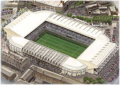 Magpies Wall Art - Painting - St James Park - Newcastle United by Kevin Fletcher