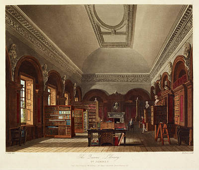 Bookcase Photograph - St. James's Palace by British Library