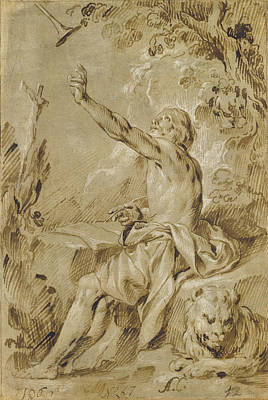 St. Jerome Hearing The Trumpet Of The Last Judgment Antonio Art Print by Litz Collection