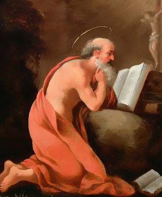 Christian Artwork Painting - St Jerome In Penitence by Mountain Dreams