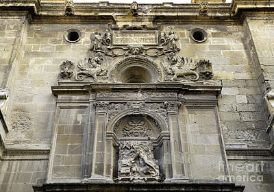Historic Doors Photograph - St Jeronimo Door Granada Cathedral by Guido Montanes Castillo