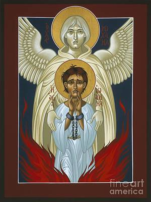 Painting - St. Joan Of Arc With St. Michael The Archangel 042 by William Hart McNichols