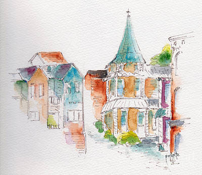 St John Harbor Hill Art Print by Pat Katz
