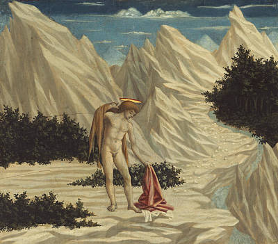 Baptist Painting - St. John In The Desert by Domenico Veneziano