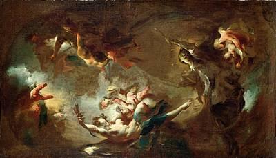 Bohemia Painting - St. John Nepomuk Being Taken by Franz Anton Maulbertsch