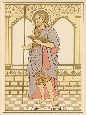 Christianity Drawing - St John The Baptist by English School