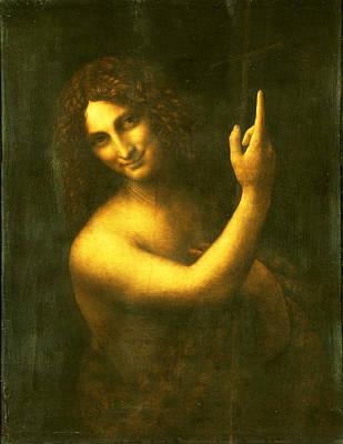 Pelts Painting - St. John The Baptist by Leonardo Da Vinci
