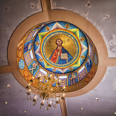Romanian Icons Photograph - St. John The Baptist Romanian Orthodox Church Ceiling by Priscilla Burgers