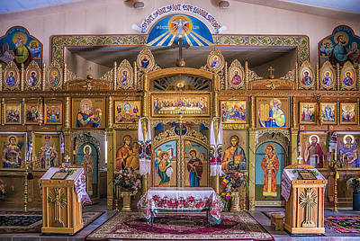 Romanian Icons Photograph - St John The Baptist Romanian Orthodox Church Of Glendale Arizona by Priscilla Burgers