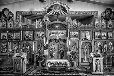 Romanian Icons Photograph - St. John The Baptist Romanian Orthodox Church by Priscilla Burgers