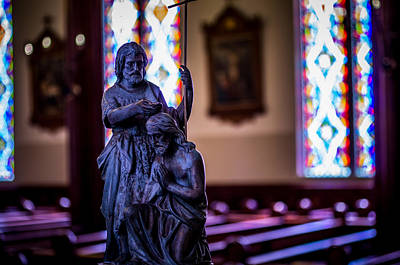 Baptist Photograph - St. John The Baptist Statue In St. Mary's Of The Mountains by Scott McGuire