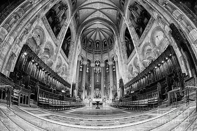 St John The Divine Sanctuary Bw Art Print by Jerry Fornarotto