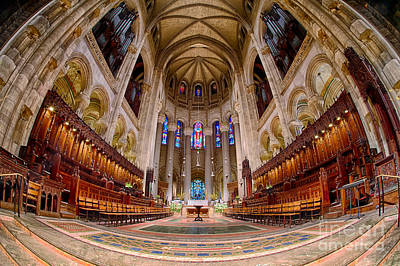 St John The Divine Sanctuary Art Print by Jerry Fornarotto