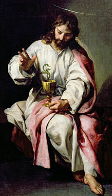 St John The Evangelist Painting - St. John The Evangelist And The Poisoned Cup by Alonso Cano
