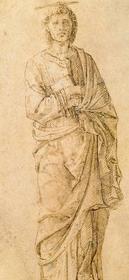 Italian School Drawing - Saint John The Evangelist by Italian School