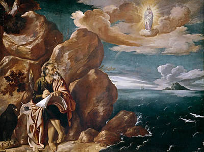 St John The Evangelist Painting - St John The Evangelist On Patmos by Pedro Orrente