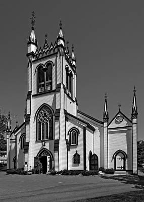 Photograph - St. John's Anglican Church Lunenburg by Phil Cardamone