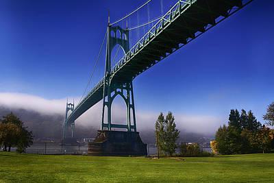 Photograph - St. Johns Bridge 2 by Robert Woodward