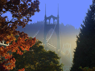 Photograph - St. Johns Bridge by DerekTXFactor Creative
