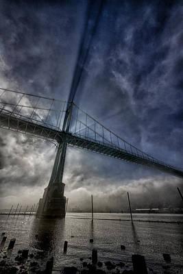Photograph - St Johns Bridge In Fog by Robert Woodward