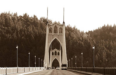Photograph - St. John's Bridge by Patricia Babbitt