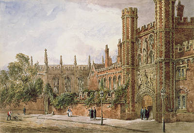 21 Painting - St. Johns College, Cambridge, 1843 by Joseph Murray Ince