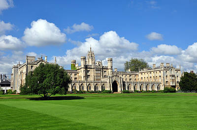 St. John's College Cambridge Art Print by Matthew Chapman