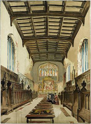 Cambridge Drawing - St. Johns College Chapel Cambridge Cambridge University Uk by English School