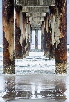 Photograph - St Johns County Ocean Pier In Saint Augustine Florida  by Parker Cunningham