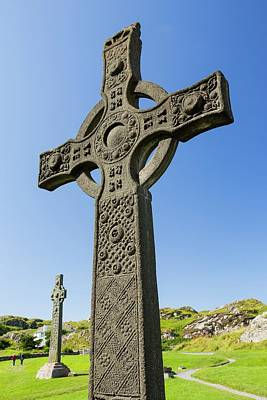 Stone Carving Photograph - St John's Cross by Ashley Cooper
