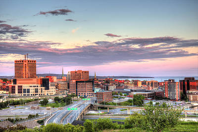 Photograph - St. John's New Brunswick Sunset Skyline by Shawn Everhart