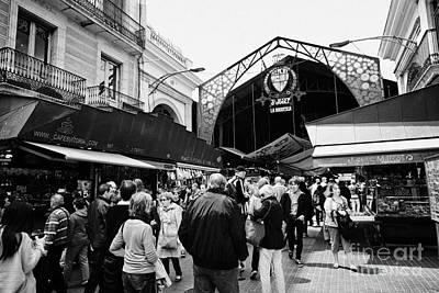 st josep la boqueria market in el raval Barcelona Catalonia Spain Art Print by Joe Fox
