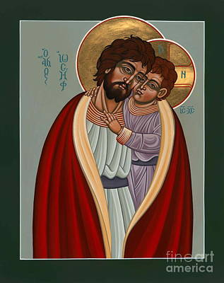 Painting - St. Joseph And The Holy Child 239 by William Hart McNichols